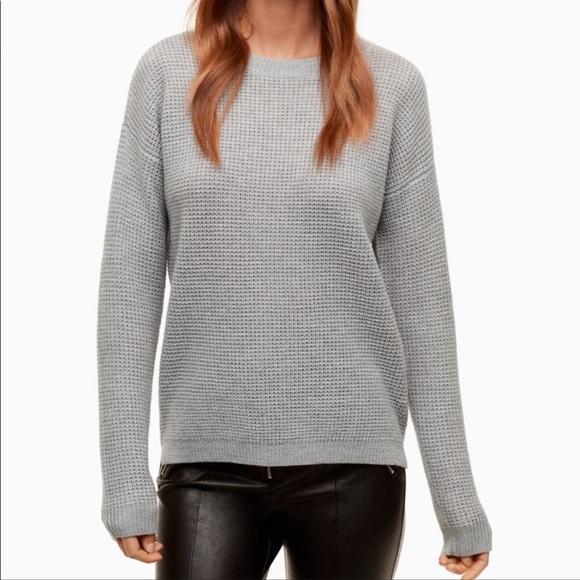 Aritzia Wilfred Free waffle merino sweater medium